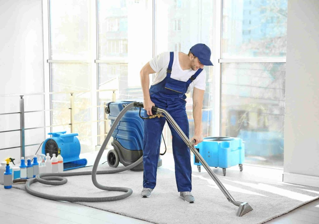 Carpet cleaning after mold removal and water damage restoration